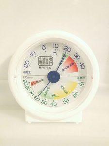 温湿度計。温度と湿度の変化をイメージ