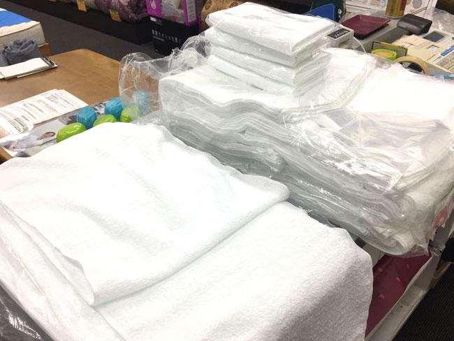 タオルの大量注文・敷き布団のお客さま