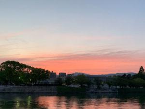 広島市内の夕焼け