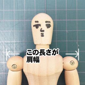 肩幅の図解